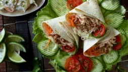 Wrap pulled pork (voor 10 wraps)