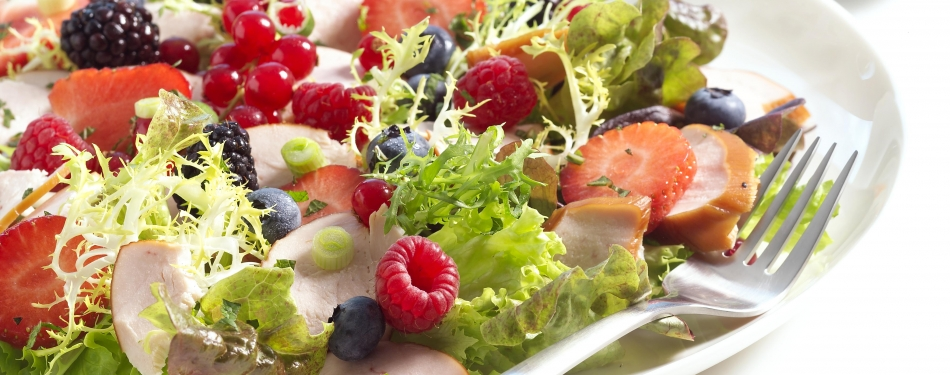 Salade met fruit<