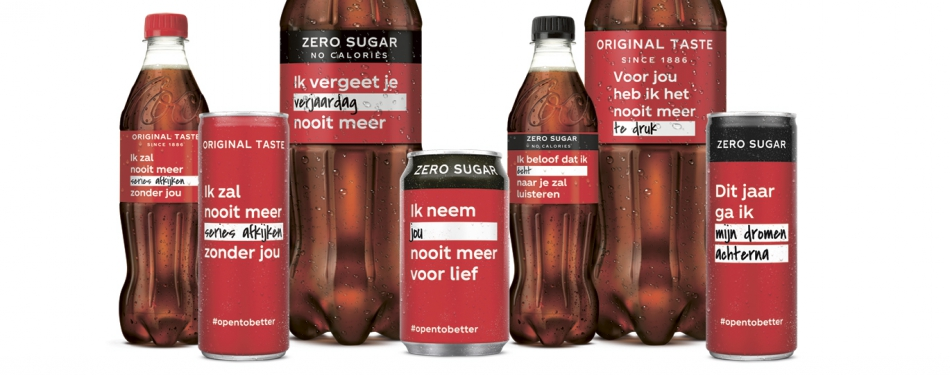 Coca-Cola lanceert campagne 'Open To Better'